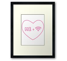 me + wifi heart Framed Print