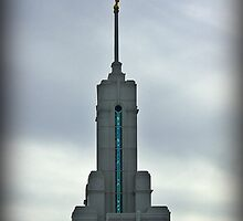 Mount Timpanogos LDS Temple - Steeple by Ryan Houston