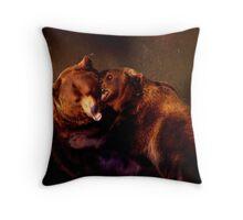Bear Pit Throw Pillow