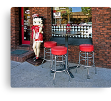 Betty Boop Cafe Canvas Print