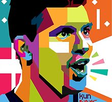 """World Cup 2014 Edition"" Kun AGUERO in WPAP by luckysatria"