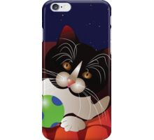 Cat on the roof iPhone Case/Skin
