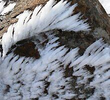 ice on rock by Brett Harris