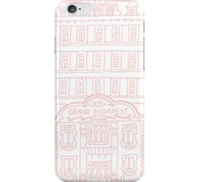 The Grand Budapest Hotel in pink iPhone Case/Skin