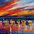 IN EXPECTATION OF SUNRISE by leonid afremov