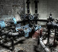Pipes and valves by Richard Shepherd