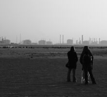 North Gare in monochrome by Edward Gunn
