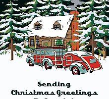 Aunts Sending Christmas Greetings Card by Gear4Gearheads