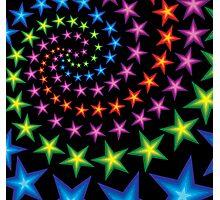 vivid star spirals Photographic Print