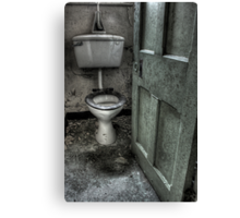 Obligatory Toilet Canvas Print