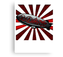 ANCIENT PAGAN SYMBOLS ON A ZEPPELIN - REEL STEEL/RED POP Canvas Print