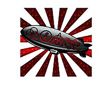 ANCIENT PAGAN SYMBOLS ON A ZEPPELIN - REEL STEEL/RED POP Photographic Print