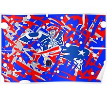 new england patriots collage art Poster