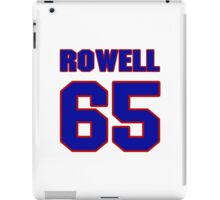 National football player Eugene Rowell jersey 65 iPad Case/Skin