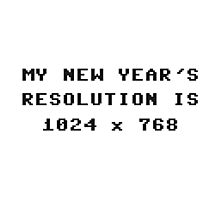 New Year's Display Resolution 1024x768 Photographic Print