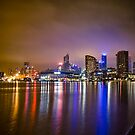 Melbourne from the Docks by Sam Frysteen