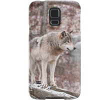 Timber Wolf on Outcropping Samsung Galaxy Case/Skin