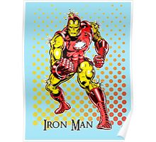 Iron Man, Vintage Cartoon Super Hero Poster