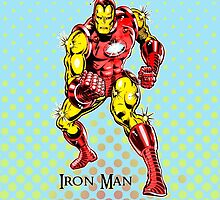 Iron Man, Vintage Cartoon Super Hero by Everett Day