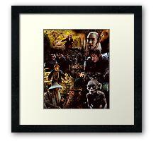 The Hobbit Design Framed Print