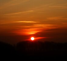 Sunset over Blyth by pat oubridge