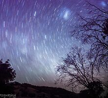 Lake Hume star trails by dannyjphotos