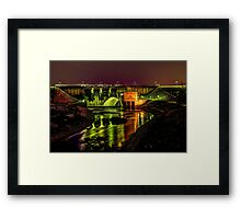 J. Percy Priest Dam, Night Framed Print