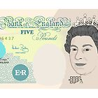 Five Pound Note by Richard Edwards