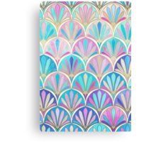 Glamorous Twenties Art Deco Pastel Pattern Canvas Print