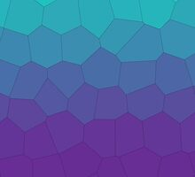 Stained gradient - Purple/Turquoise  by VovkU