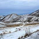 Lindis Pass serene in white by Duncan Drummond