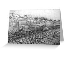 The Last of the British Rail Steam Locomotives - all products bar duvet Greeting Card