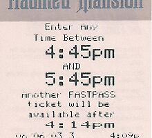 Haunted Mansion fastpass travel mug by Emily2015