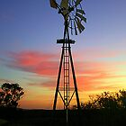 outback windmill by Danielle Gillies