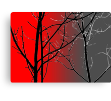 Red And Gray Canvas Print