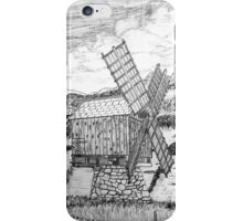 Traditional Romanian Windmill with a View, Barda Village - all products bar duvet iPhone Case/Skin