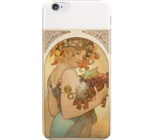 'Fruit' by Alphonse Mucha (Reproduction) iPhone Case/Skin