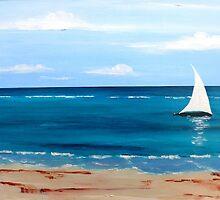 White Sail 1 by Susan Harley