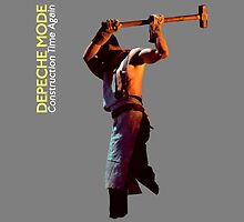 Depeche Mode : Paint of Construction Time Again -Man only with text- by Luc Lambert