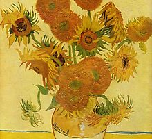 'Still Life with Sunflowers' by Vincent Van Gogh (Reproduction) by Roz Abellera Art