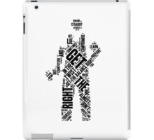 Depeche Mode : Get The Balance Right - Word Black iPad Case/Skin