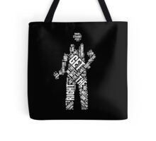 Depeche Mode : Get The Balance Right - Word White Tote Bag