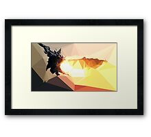 Low Poly Characters- Alduin Framed Print