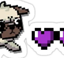 8 bit pug Sticker