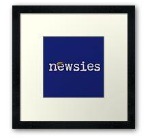 Newsies w/ Cap Framed Print