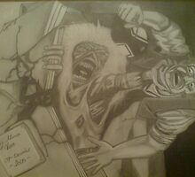 iron maiden cover in pencil by mazmedia