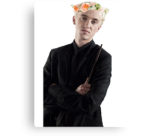draco with flower crown Canvas Print