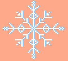 Pixel Snowflake by Kelsey G