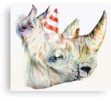 Rhino Party Canvas Print