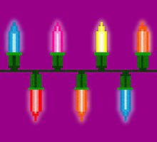 Pixel Christmas Lights by Kelsey G